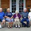 Grandma and her brother Freddie, with his family. Freddie's wife Velda, daughter Sharon and her husband Jim.