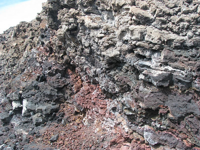 18  layers of different colored lava