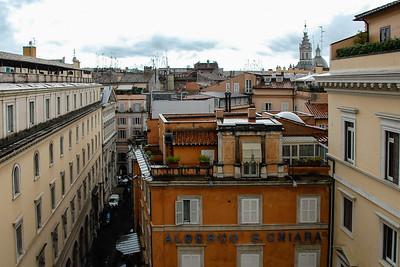 View from hotel, Grand Hotel de la Minerve