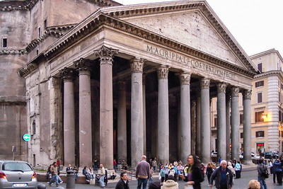 Pantheon 300 feet from our hotel
