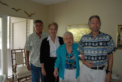 Ronnie, Marilyn Mildred & Larry in Mom's apartment
