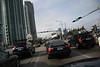 We were stuck in Miami traffic.