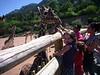 Sydnee at the Cheyenne mountain zoo, feeding the giraffe's