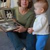 11/3/09 grandma and Sienna looking at mama's baby photos