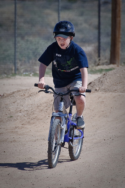 3.15.2009 -- Connor at the BMX Track