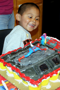 Alex with his Cake