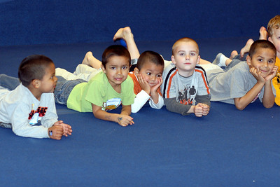 Row of Kids
