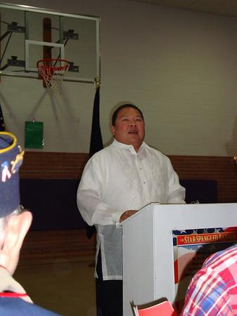 2009-11-11 Bassett Grade School Veterans Day - Alvin Guest Speaker