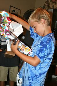 Shane checks out his Transformer
