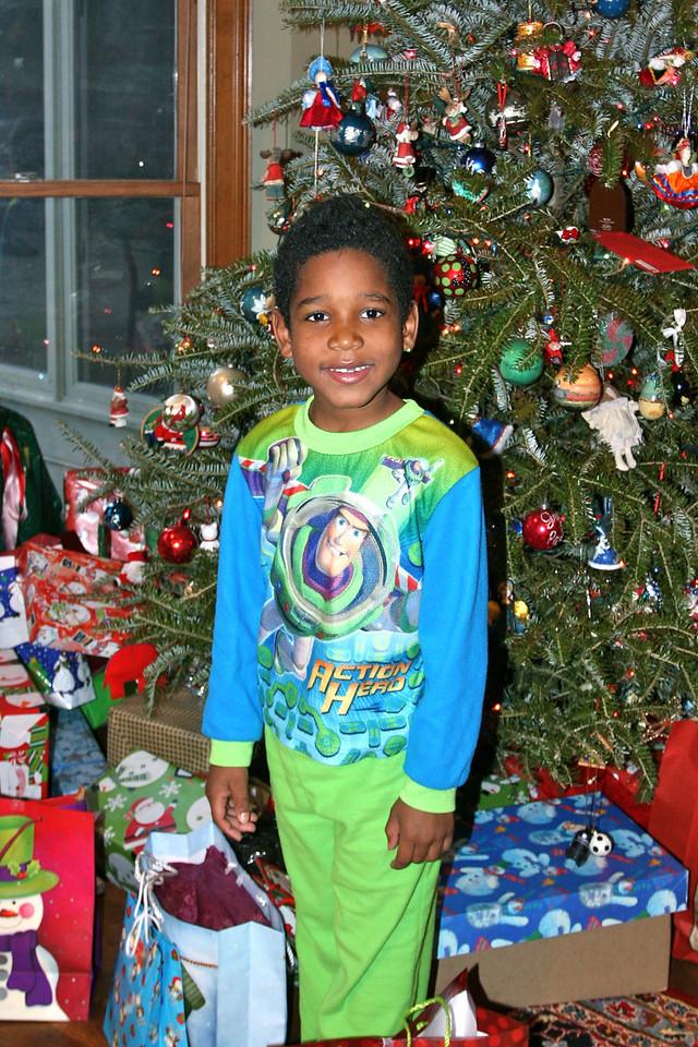 Quamir with his presents