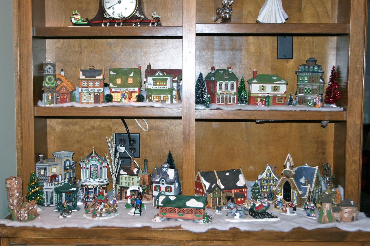 My Christmas village got a second level thanks to Nana!
