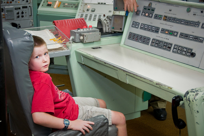 Connor and Dad at the Titan Missile Museum