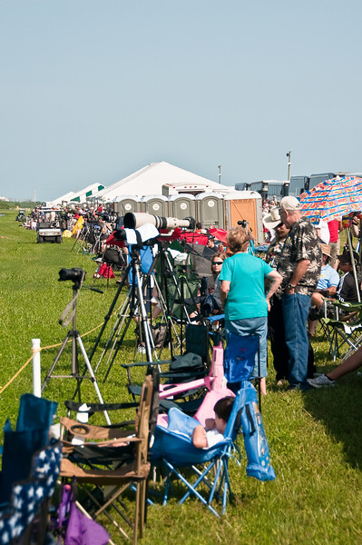July 12, 2009 -- The scene at the launch viewing area on the Kennedy Space Center.<br /> <br /> Image from Connor and Dad's trip to the Kennedy Space Center (KSC) for the launch of the Space Shuttle Endeavour.  It was ultimately postponed due to weather.