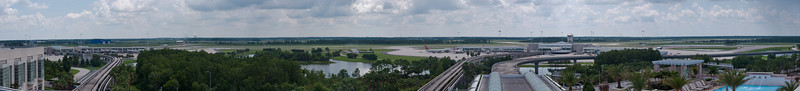 The view from our hotel in the Orlando Airport just before flying home.