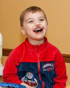 KC enjoyed the birthday cupcakes.