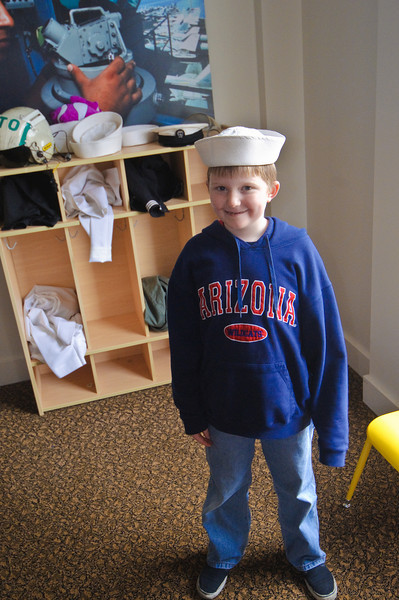 Connor at the Naval Museum of the Pacific in Bremerton.  A real sailor.