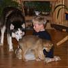 Lars, Lobo and Nils and chinook , Feb 14.