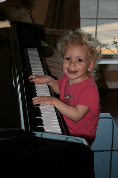 My little pianist.