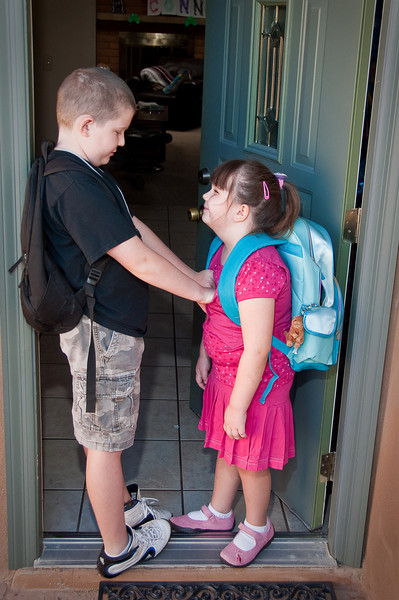 Connor and Claire's first day of school for the 2009/2010 school year.