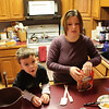 Janel and Isaac makin' brownies