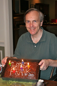Frank shows off his cake, decorated by Landi.