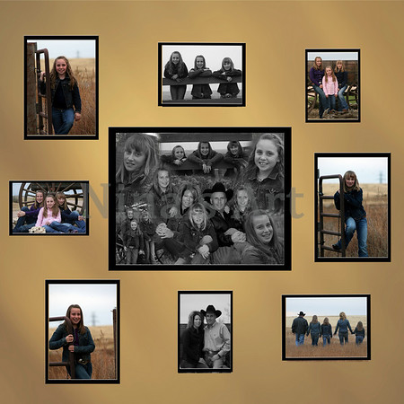 Frink Family  Wall with bw collage 2