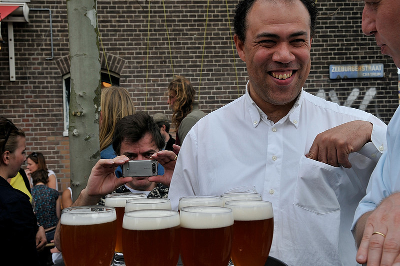 Gabe is happy seeing all that beer