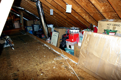 The attic with all the stuff that used to be in the Bonus Room