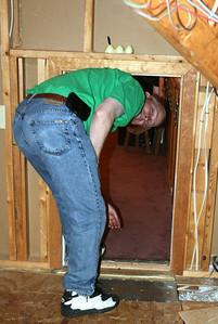 Mark going through the mini-door