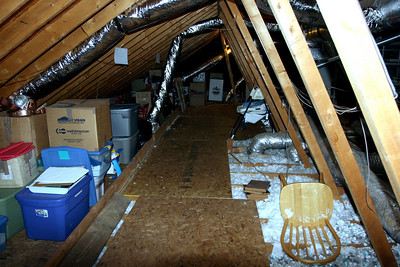 Another view of the newly-stuffed attic