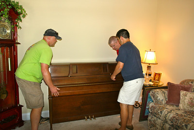 Putting the piano in place