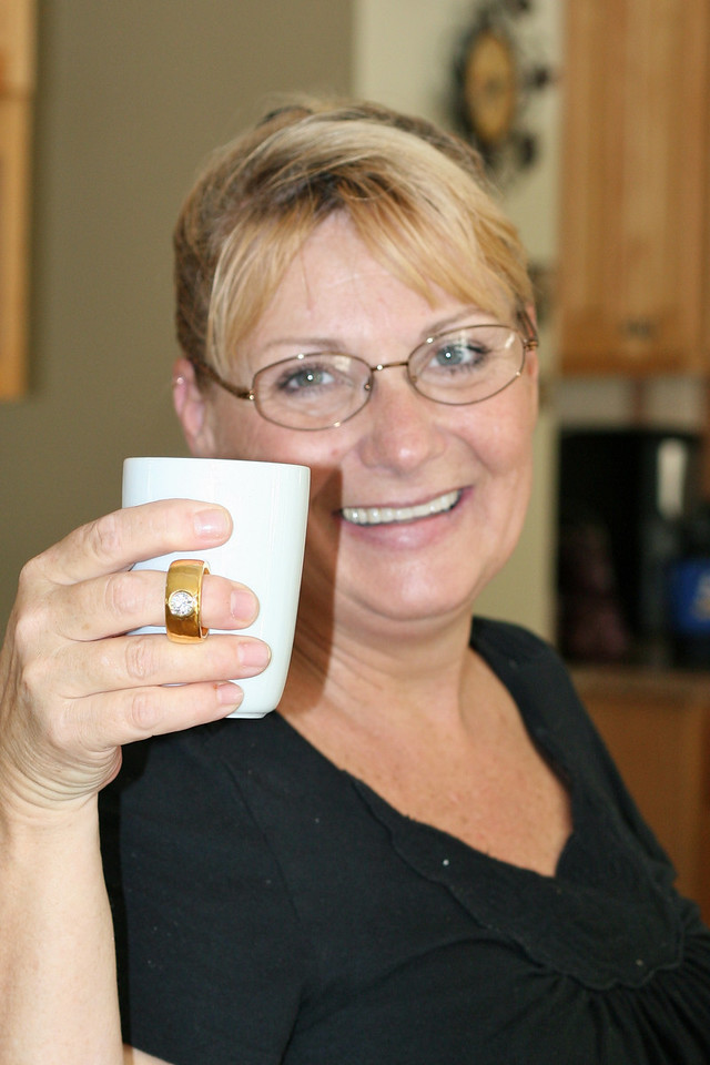 Heather with her ring-cup