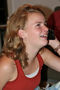 "Marie on the phone with her dad, ""Reginald"""