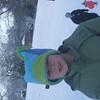 Ian returning from sled ride