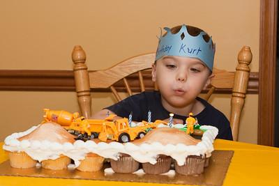 K.C. makes a birthday wish.
