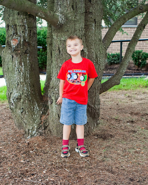 K.C. goes back to school.  This is his 3rd year of school, and he's adjusting very well this year.