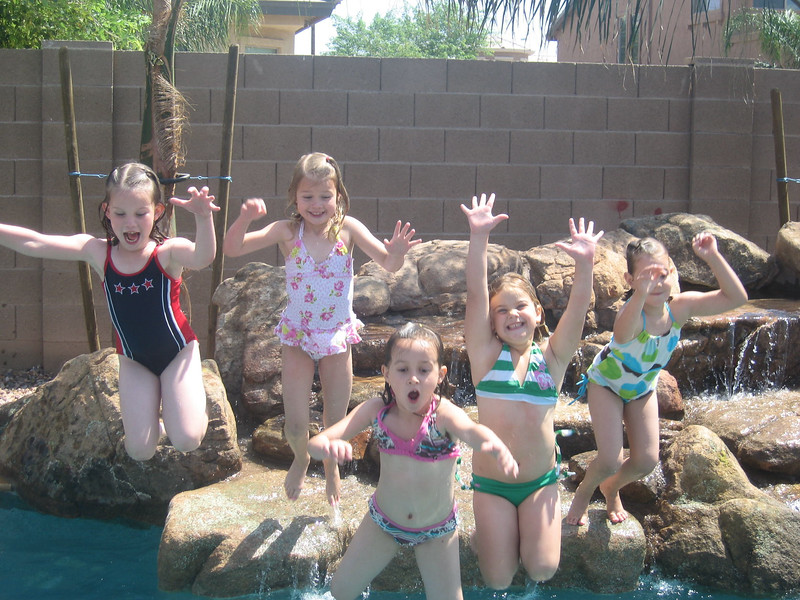 Addison, Tori, Birthday and Pool-7