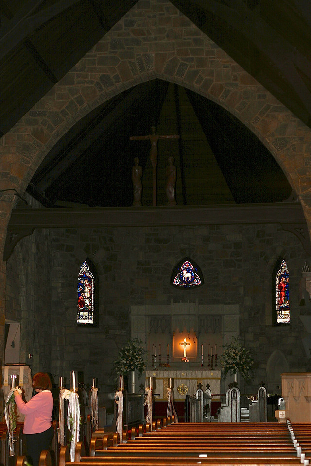 All Saints Episcopal Church in Chevy Chase - it was much darker and more gothic than I remembered!