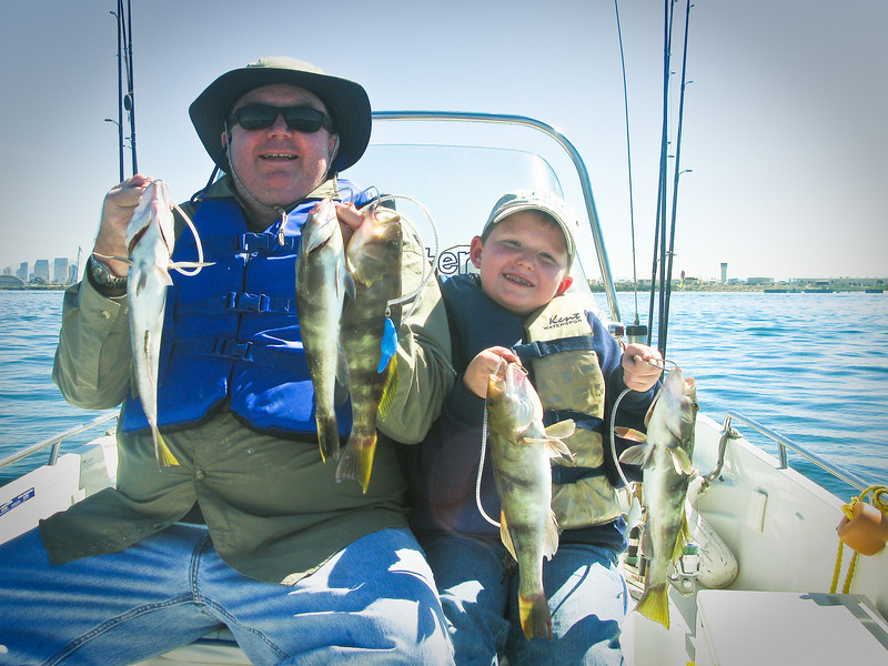 The fishing was good in the San Diego Harbor on Saturday February 28th.