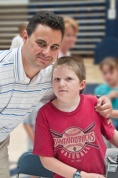 6.25.2009 -- Connor with Coach Miller.<br /> <br /> The closing ceremonies of the Sean Miller Basketball in which Connor participated.