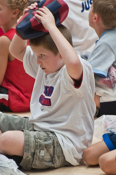 6.25.2009 -- Connor listening intently.<br /> <br /> The closing ceremonies of the Sean Miller Basketball in which Connor participated.