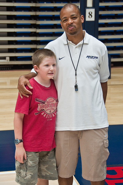 6.25.2009 -- Connor with Coach Walker.<br /> <br /> The closing ceremonies of the Sean Miller Basketball in which Connor participated.