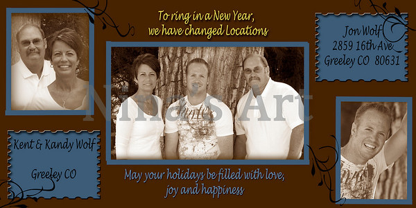 christmas card sepia