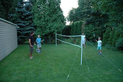Badminton - Jack, Will, Amy &  Freddy