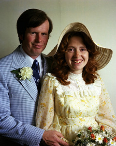 Anne and Larry on their wedding day.