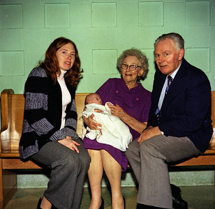Four generations-- Anne Marie, Greg, Gram and Dad