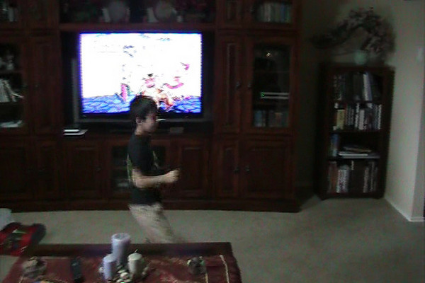 Just some general goofiness.  Ryan dancing to the Scooby Doo theme song.