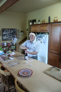 Dad doing what he does best - being a good host and getting the bubbles flowing!!!
