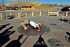 "At Four Corners monument, everyone wants to show off for the camera.  We call this pose ""The Spider."""