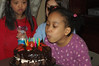 She blew out the candles so quickly.
